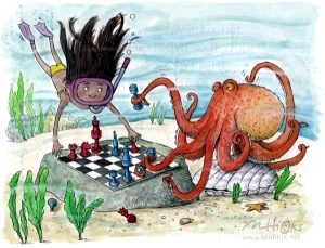 Under the Sea Game by wimsical Mark A Hicks, illustrator